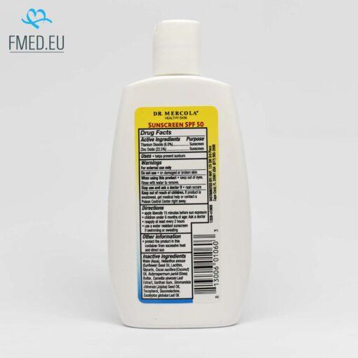 naravna krema za sončenje mercola zaščitni faktor 50